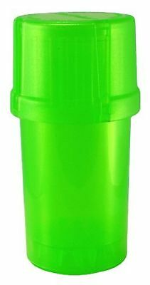 1 X MedTainer Storage Container w/ Built-In Grinder - Green