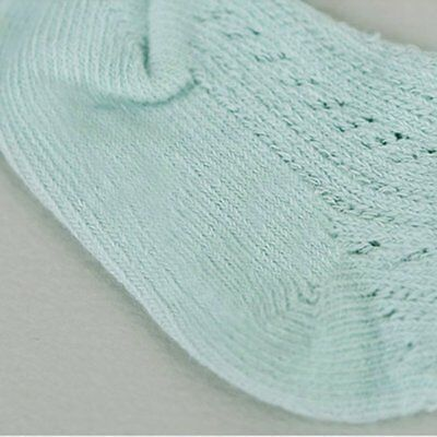Toddler Baby Boy Girl Solid Cotton Socks Lovely Kids Soft Sock 0-3 Years Green-M