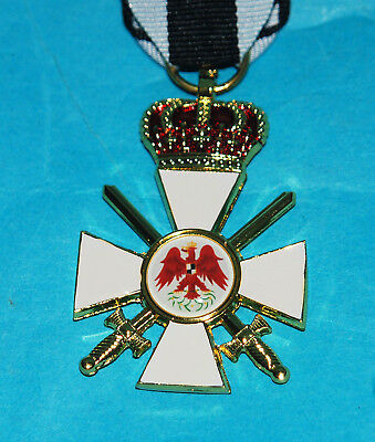 German Order Of The Eagle 3Rd Class Prussian Medal & Ribbon With Crown.