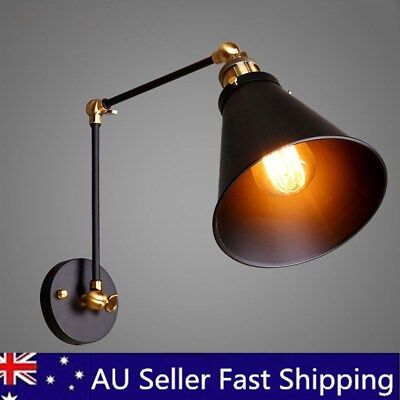 Indoor Wall Lights Kitchen Swing Arm Wall Lamp Black Wall Lighting Wall Sconce