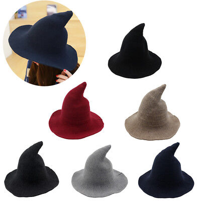 Modern Witch Hat Made From High Quality Sheep Wool Halloween Witch Hat New EA