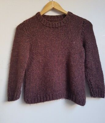 Brown knitted jumper size XS - S