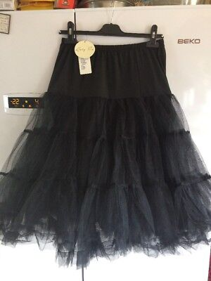 Lindy Bop Black Petticoat 8-14 New With Tags and XMorning X