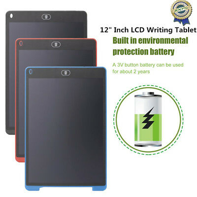 """12""""LCD Writing Learning Tablet Pad for Boogie Board Jot Style eWriter Board VIP"""
