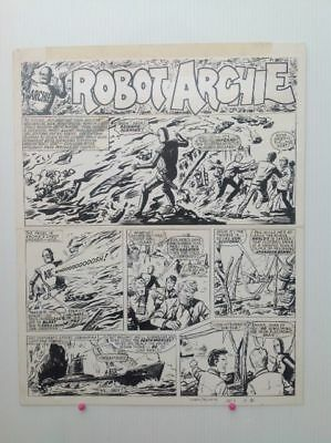 Original Comic Art of ROBOT ARCHIE by Ted Kearon