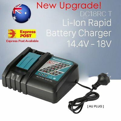 New Upgrade Makita DC18RC Rapid Battery Charger Li-Ion Australian Model 14.4-18V