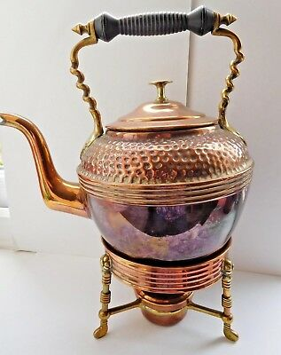 Henry Loveridge & Co Arts & Crafts copper & brass Kettle & stand 1850-1899