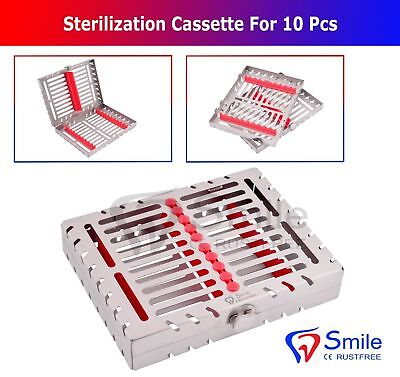 Sterilization Cassette Rack Tray Holds 10 Dental Surgical Instruments Smile