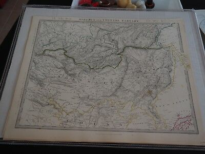 Antique Map of Siberia and Chinese Tartany-1846