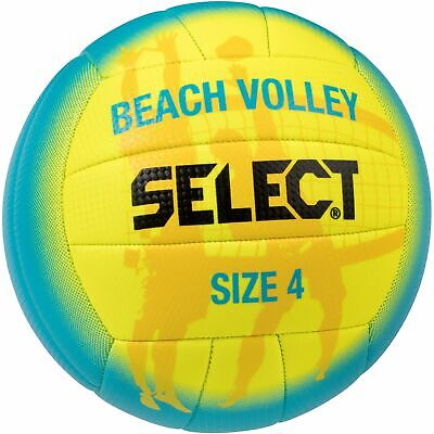 Select Beachvolleyball gelb grün Volleyball Strandball Strandvolleyball Gr. 4
