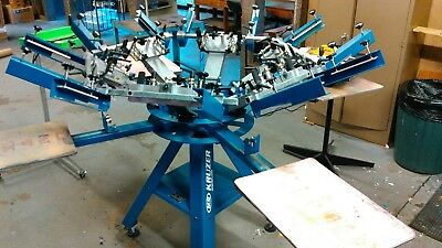 M&R Kruzer & Riley Silk Screen Printing Presses **Price listed is per machine**