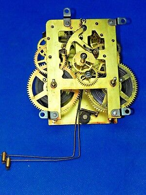 Antique Vintage Waterbury Wall Mantle Mantel Shelf Grandfather Clock Movement