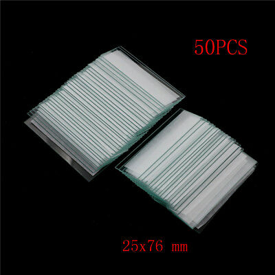50Pcs 25x76mm Blank Microscope Glass Slides Single Side Frosted Slides for LabM&