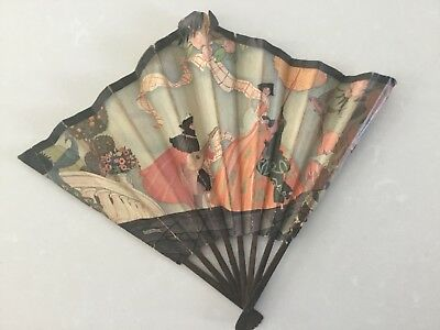 Vintage Art Deco Balloon Advertising Hand Fan