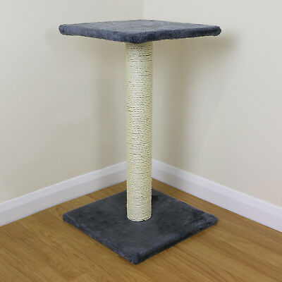 Grey Cat/Kitten Extra Large Sisal Scratching/Scratcher Post/Tree/Pole Platform