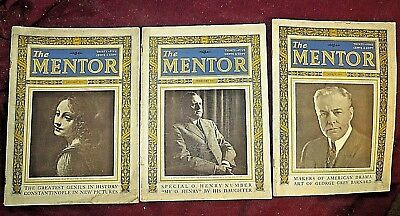 THE MENTOR MAGAZINE 1923 (3 ISSUES) Constantinople, O. Henry, Geo. Gray Barnard