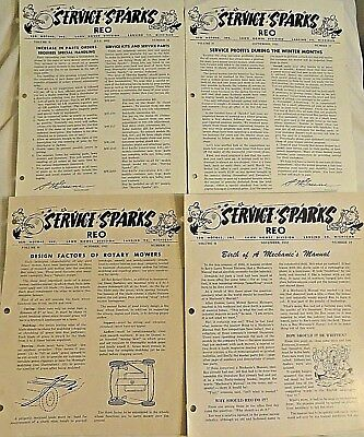 1952 REO Motors SERVICE SPARKS Dealer Newsletters Lawn Mower Div (ORIN A. WILEY)