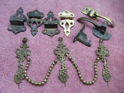 Lot Of Misc.antique / Vintage Brass Hardware    0724-4