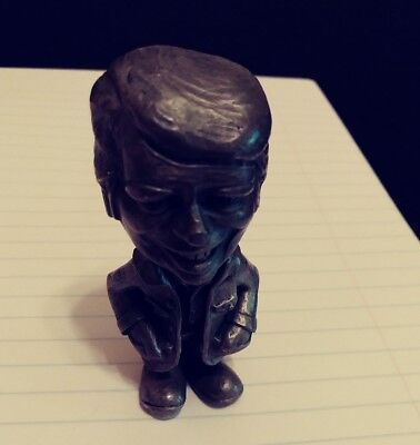 """JIMMY CARTER  PEWTER 3"""" STATUE FIGURE  Marked Del C"""