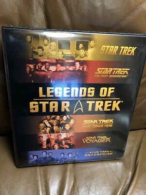 Legends Of Star Trek Binder/ Album With 25 Plastic Inserts And 27 Trading Cards!