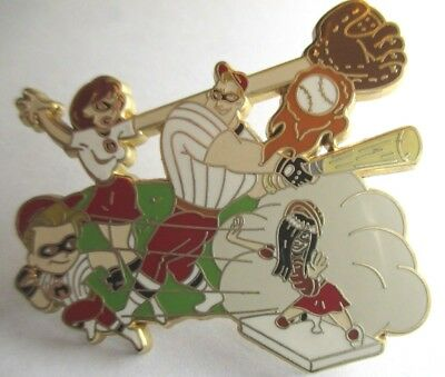 Disney Pin - DS - The Incredibles Baseball Team LE #57571