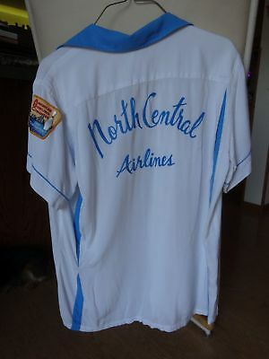 Vintage 1965 North Central Airlines Bowling Team Shirt with ABC Patch