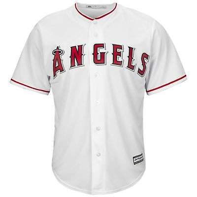 MLB Los Angeles Angels of Anaheim Majestic Cool Base Casa Camicia Baseball Uomo