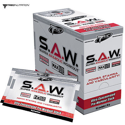 SAW POWDER SACHETS - Anabolic Pre-Workout Booster - Muscle Growth Energy & Pump
