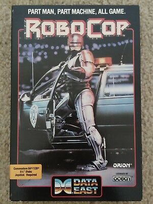 RoboCop For Commodore 64 128, NEW FACTORY SEALED - Shrink-Wrap, DataEast / Ocean