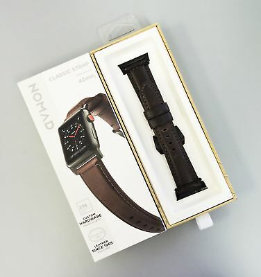 Nomad Classic Leather Strap for Apple Watch 42mm Ash Brown