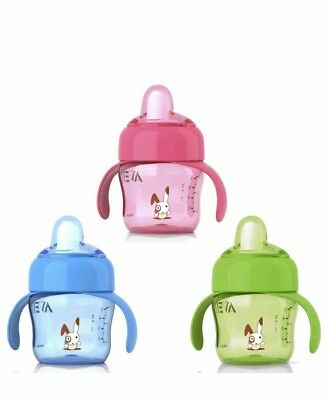 ADVENT CUPS X3,  ADVENT 200ml SOFT SPOUT, BABY BOY/GIRL CUP FOR 6mths PLUS  X3