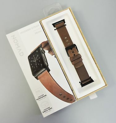 Nomad Modern Leather Watch Strap for Apple Watch 38mm Brown