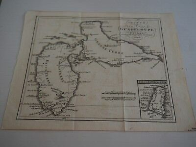 "Antique Map of ""Chart von der Insel Guadeloupe Weimar Geograph Institute. 1804"""