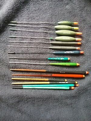 Used fishing floats stick floats and wire stem avons