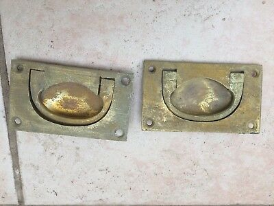 Pair of Antique Brass Military Handles