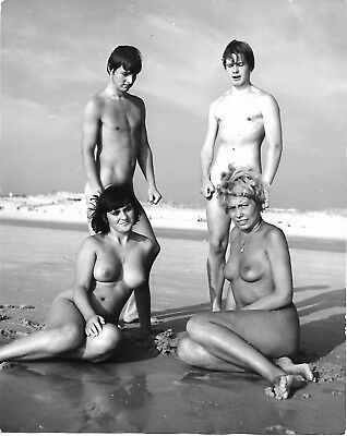 Vint~Nudist Study On Montalivet Beach~By Noted German Photographer A. Baege~
