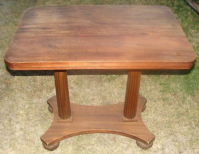 Antique American Empire Mahogany Pier / Console Table Circa 1850 AWESOME!