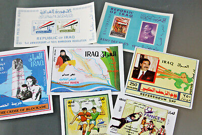 IRAQ - 1960's-90's COLLECTION OF MINIATURE SHEETS - ALL UNMOUNTED MINT