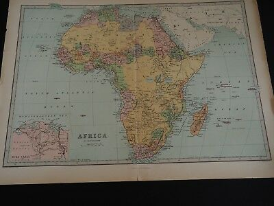 "Antique Map ""Africa by J. Bartholomew"""