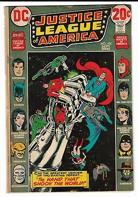 Justice League of America #101 (Sep 1972, DC)  & Justice Society, Bronze Age