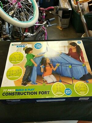 Discovery Kids 77 Piece Build Play Construction Fort Set Building
