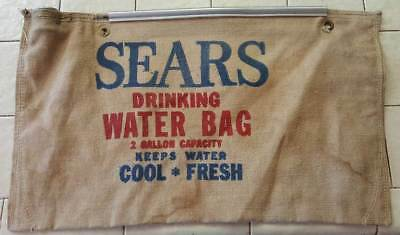 Vintage Cloth Sears Drinking Water Bag