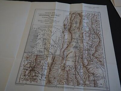 "Antique Map ""Sketch Map to illustrate journeys in the North of the Argentine Re"