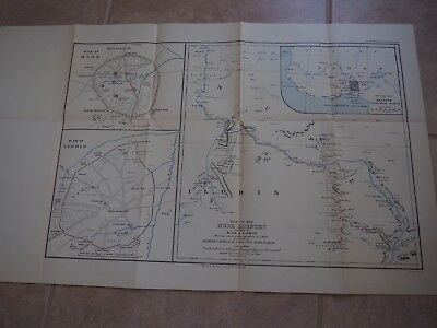 "Antique Map ""Map of the Nupe Country with plans of Bida & Ilorin Route of Exped."