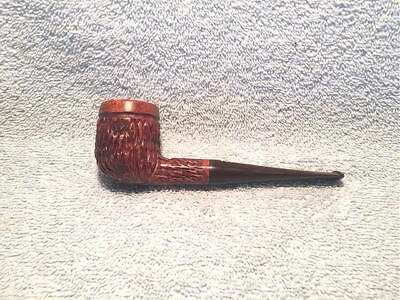 E.a. Carey  Rustic  Billiard  Estate  Pipe  From  Italy  --  Superb  Condition