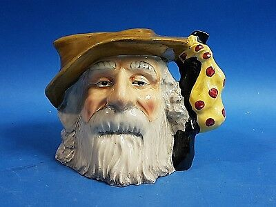 Old Vintage Collectable English Oldcourt Ware THE TRAMP Toby Jug Hand Painted