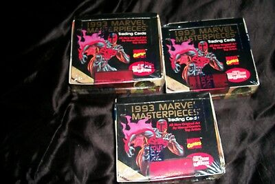 """1993 Marvel Masterpieces Cards Lot of 3  """"Case Break""""  Factory Sealed Wax Boxes"""