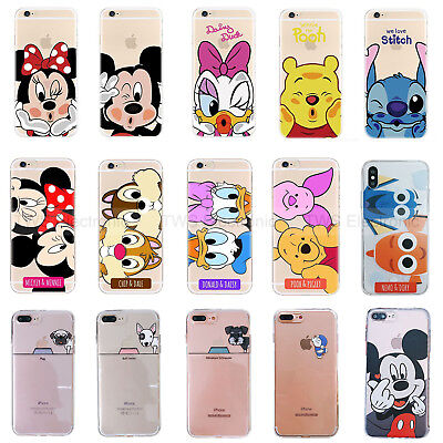 Ultra Slim Disney Mickey Soft TPU Back Case Cover For iPhone 6S 7 Plus 8 X