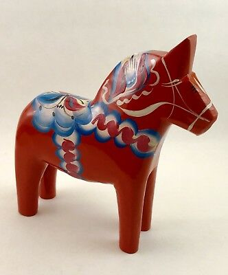 "NEW Swedish Dala Horse 6"" Red-1"