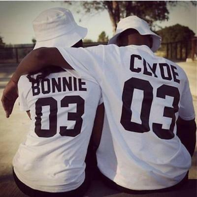 Unisex Bonnie and Clyde Couples Shirt Matching Wear  Lovers T-shirt G